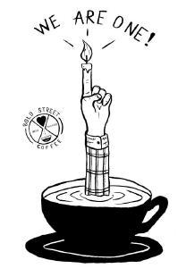 Bold Street Coffee first birthday artwork