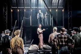 Jamie Sives (centre) as Marty Ferrara in The Hook at The Everyman