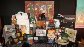 Gifts from inside the Artists' Lounge at Fusion Festival