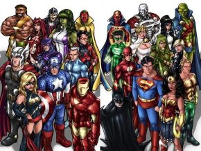 Marvel and DC comics characters