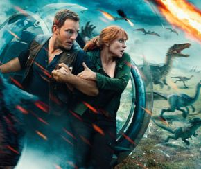 Chris Pratt and Bryce Dallas Howard in Jurassic World: Fallen Kingdom