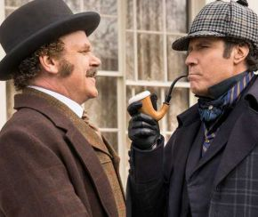 John C. Reilly and Will Ferrell as Watson and Holmes