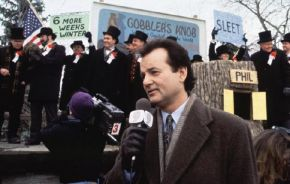 Bill Murray in 'Groundhog Day' (1993). Credit: Louis Goldman/Alamy