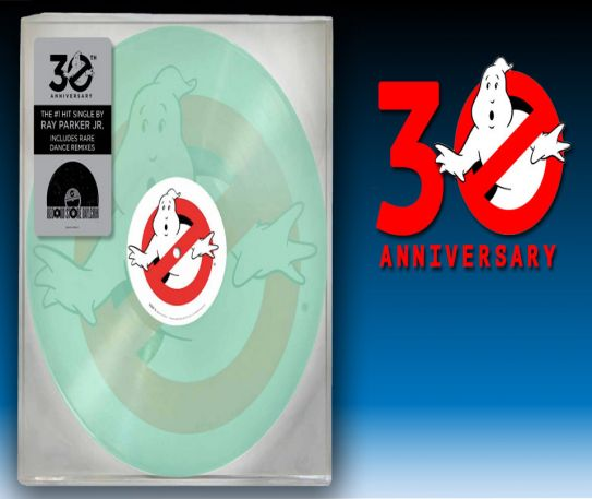 Record Store Day - Ghostbusters 30th anniversary glow in the dark vinyl record released