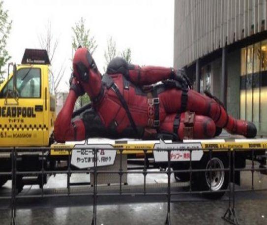 Huge Deadpool statue attempts to seduce Japan