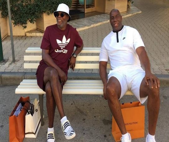 Samuel L Jackson and Magic Johnson unknowingly caught up in a racism row in Italy