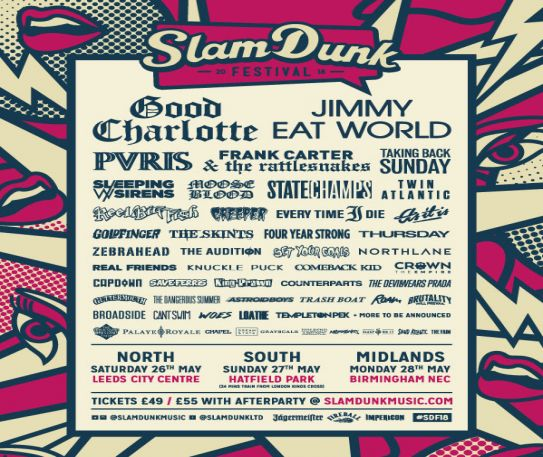 Slam Dunk festival announce more names to their 2018 bill