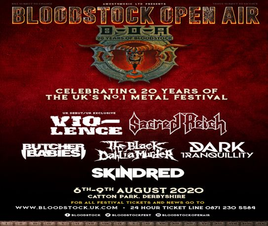 Bloodstock launches its vision for 2020 with 6 bands announced
