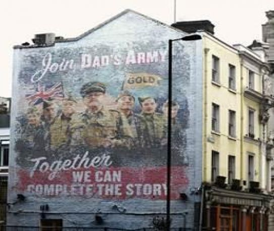 Dad's Army ghost billboard appears in London