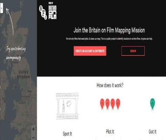 BFI calls on British public to join Britain on Film mapping mission with new crowdsourcing platform