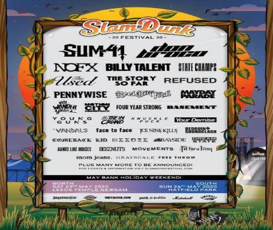 Comeback Kid, Reel Big Fish and more for Slam Dunk Festival 2020