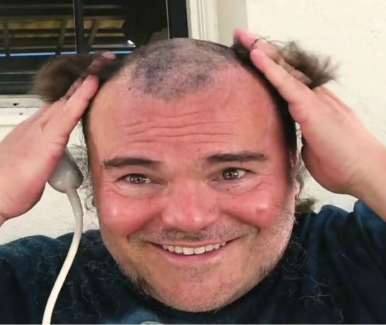 Jack Black has shaved all his hair and beard
