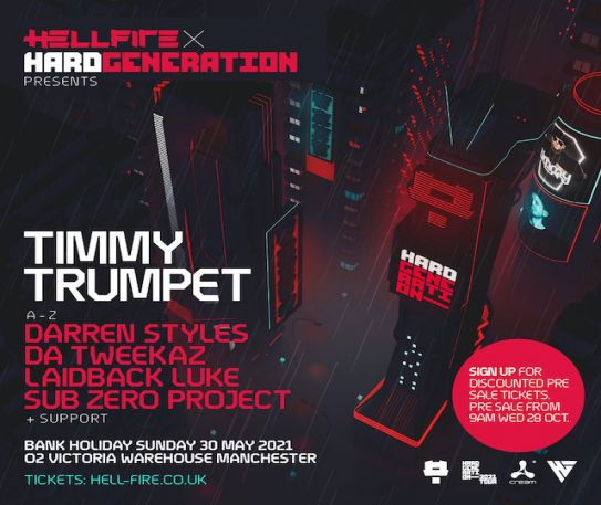 Timmy Trumpet, Darren Styles & more head to Manchester's O2 Victoria Warehouse in May 2021