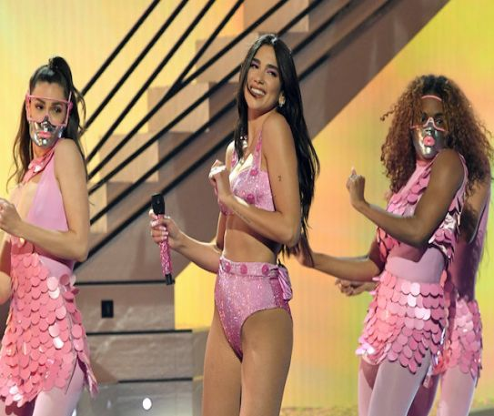 Grammys 2021: Dua Lipa pulls off three outfit changes in sparkling Future Nostalgia performance