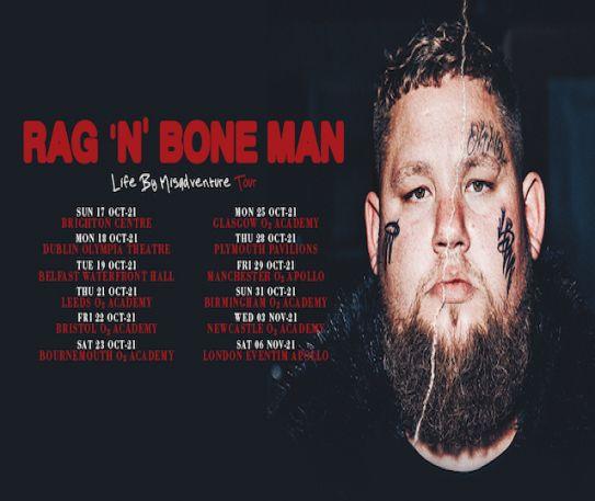 Rag'n'Bone Man announces Bristol O2 Academy, Friday 22nd October headline show