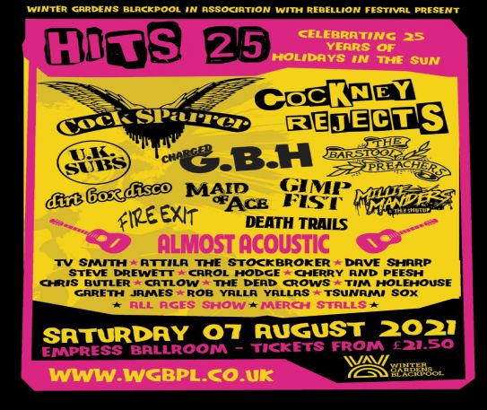 Rebellion Festival and Blackpool Winter Gardens present: HITS 25 - celebrating 25 years since Holidays In The Sun