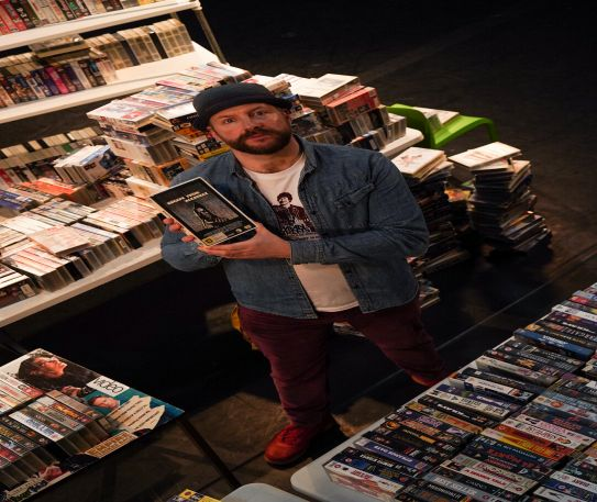 VideOdyssey Studios owner Andy Johnson mounts his VHS stack and tells us what makes a collector...