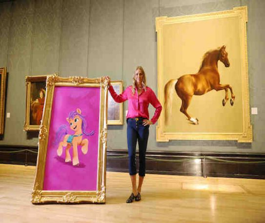 My Little Pony portraits magically replace National Gallery equine classics in augmented reality posy trail