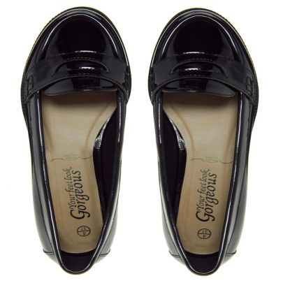 Black patent loafers, New Look, �.99